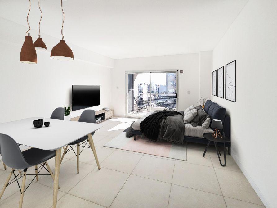 oferta usd 1576 el mts terminado monoambiente de 38mts calefacción por losa radiante individual