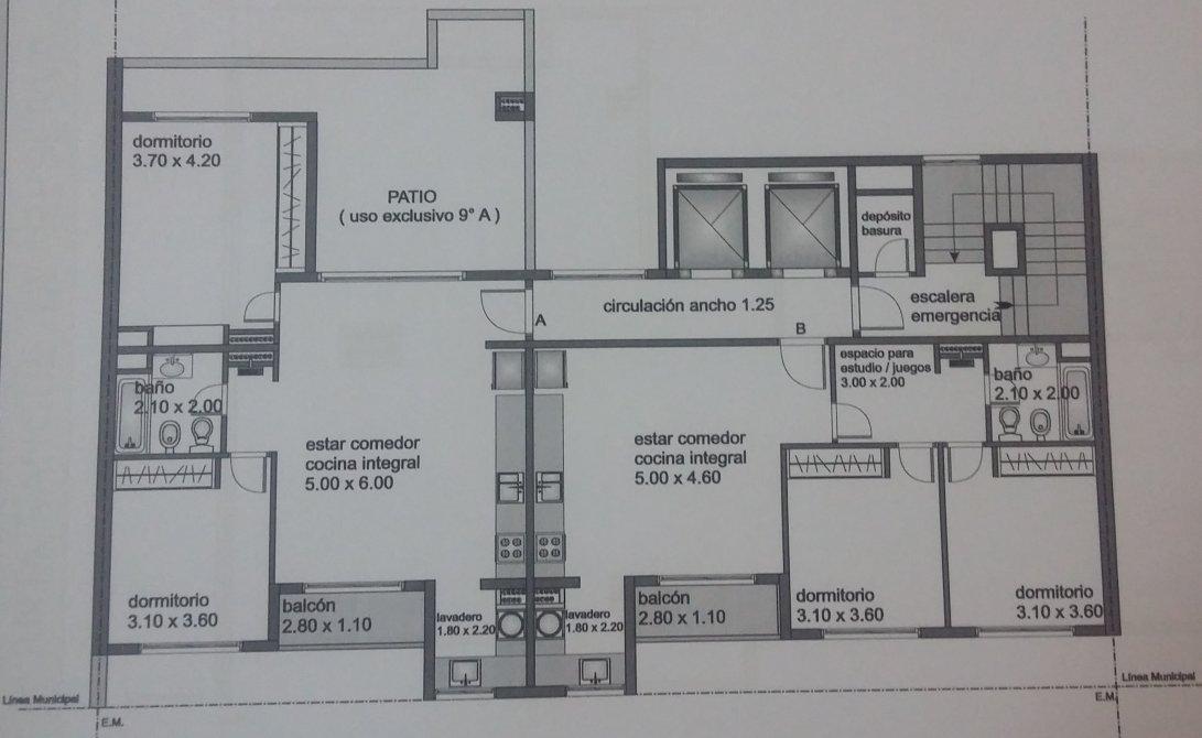 Edificio friends iii venta al costo - dpto 3 ambientes con cochera ...